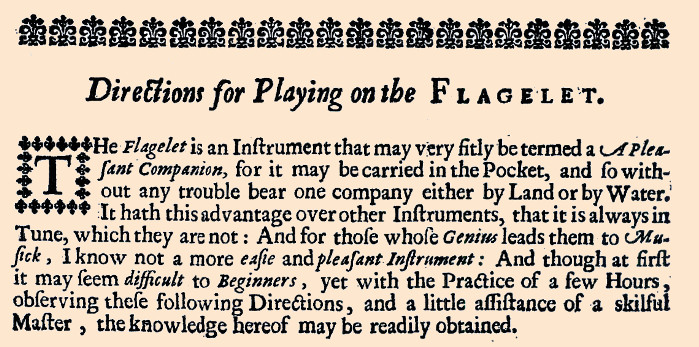 The Pleasant Companion-a description of the flageolet
